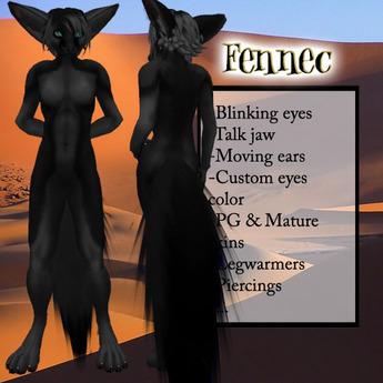 Fennec - Sculpted furry - black