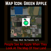 Map Icon - Green Apple [Moon Bunny Inc.]