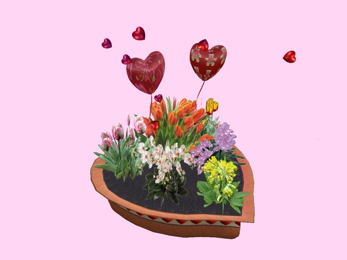 Valentines Planter in Heart Shape