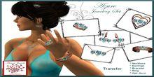 """Azure"" Valentine Jewelery Set  (6 Pieces, TRANS, Boxed)"