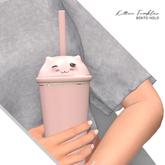Halo . Kitten Tumbler . Pink .
