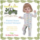 [Bucks & Does] Pastel stars footed sleeper