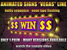 Animated neonsign with bulbs: Vegas $$WIN$$