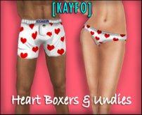 [KAYFO] Heart Boxers & Undies