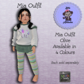 * L.A * Mia Outfit Youth Olive (Add Me)