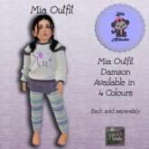 * L.A * Mia Outfit Youth Damson (Add Me)