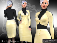 women's business suit, business outfit, formal !!Cattiva Strictly Business - Ivory