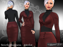 women's business suit, business outfit, formal !!Cattiva Strictly Business - Merlot