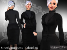 women's business suit, business outfit, formal !!Cattiva Strictly Business - Obsidian