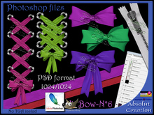 photoshop Bow & ribbons PSD 06