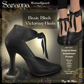 C&F Saranna Victorian Sweetheart Heels - Basic Black
