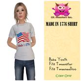 {~LMI~} Made In 1776 Shirt {Tw + Tween + Bebe Y } (Unpacker)