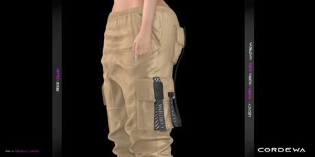 *CORDEWA* CARGO FEMALE PANTS BEIGE