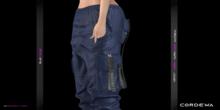 *CORDEWA* CARGO FEMALE PANTS BLUE