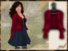 JANE - melody cardigan.cherry
