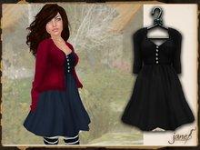 JANE - melody dress.raven
