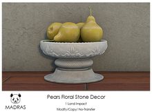 MADRAS Pears Floral Stone Decor Box