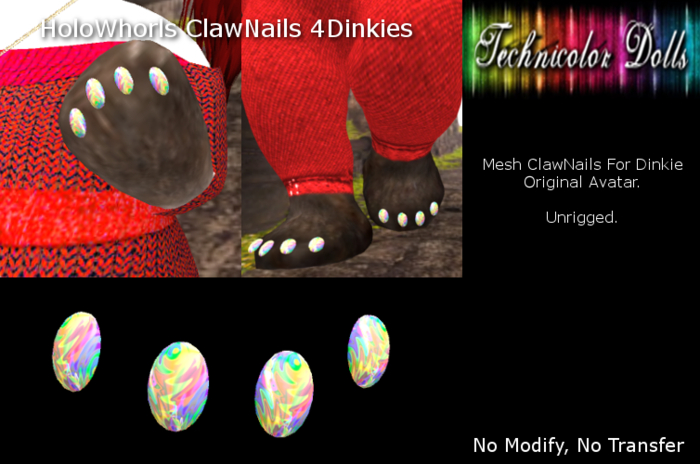 TDolls HoloWhorls Clawnails 4Dinkies