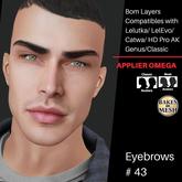 #TS#  Eyebrows #43 BOM - Lel Evo/Catwa HD Pro/ Classic