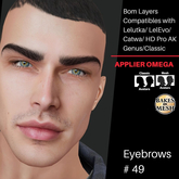 #TS#  Eyebrows #49 BOM - Lel Evo/Catwa HD Pro/ Classic