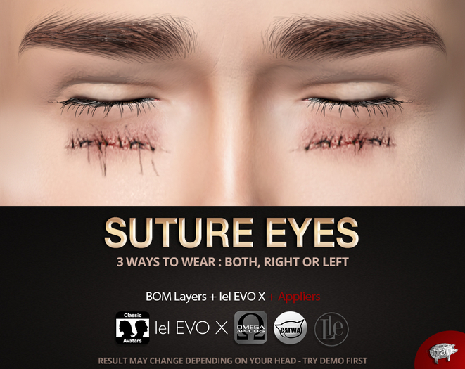 Mad' - Suture Eyes [APPLIERS + Tattoo]