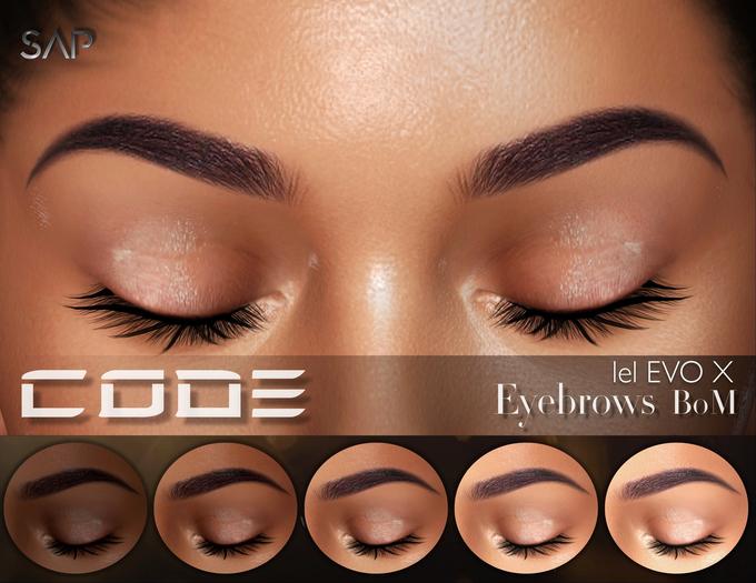 Sap ~ Code Eyebrows {Lelutka EvoX} BoM