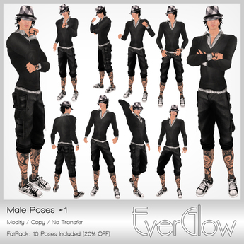 *EverGlow* - Boys Poses #01