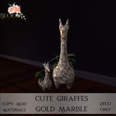 Bloom! - Cute Giraffes Gold marbl (Add me to Unpack)