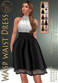 ***ArisArisB&W~Wasp waist Dress -  HUD(ADD)