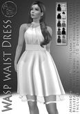 DEMO***ArisArisB&W~Wasp waist Dress -  HUD (ADD)