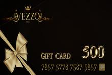 Vezzo Ink Tattoo - Gift Card 500 - ADD ME