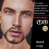 #TS# Beard #102 BOM - Lel Evo/Catwa HD Pro/AK/ Classic