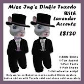 Miss Ing's Dinkie Tux Set Lavender