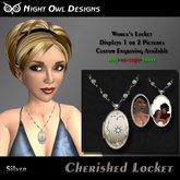 Night Owl Designs ~ Cherished Locket ~ Silver