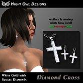 Night Owl Designs ~ Women's Diamond Cross Set