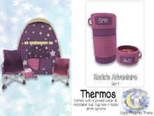 {SMK} Koda's Adventure Thermos | Set 1 | Pink-Purple