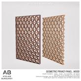 Atelier Burgundy . Geometric Privacy Panel Wood *ADD*