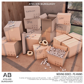 Atelier Burgundy . Moving Boxes . PG *ADD*