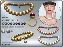 [< Lazuri >] Classic Pearl Set V2 - Original Mesh - Gift