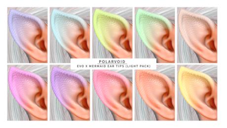 [POLARVOID] Lelutka EvoX Mermaid Ear Tips (LIGHT PACK)