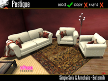 Simple Sofa & Armchairs - Buttermilk