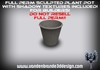 ~Full perm sculpted Plant pot + Maps! and textures!