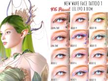 XS Primal EvoX New Wave Face Tattoo 1