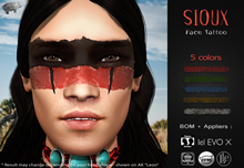 Mad' - Sioux FaceTattoo [APPLIERS + LAYERS]