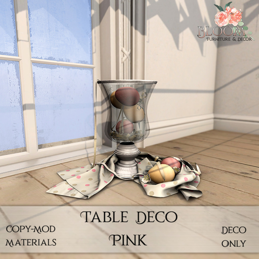 Bloom! - Table deco Pink (Add me to Unpack)