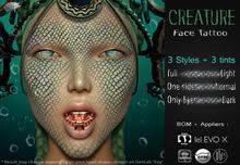 Mad' - Creature FaceTattoo v2 [APPLIERS + Tattoo]