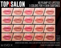 TOP1SALON - HD PLUMP LIPSTICK V2 (Lelutka X) PALE