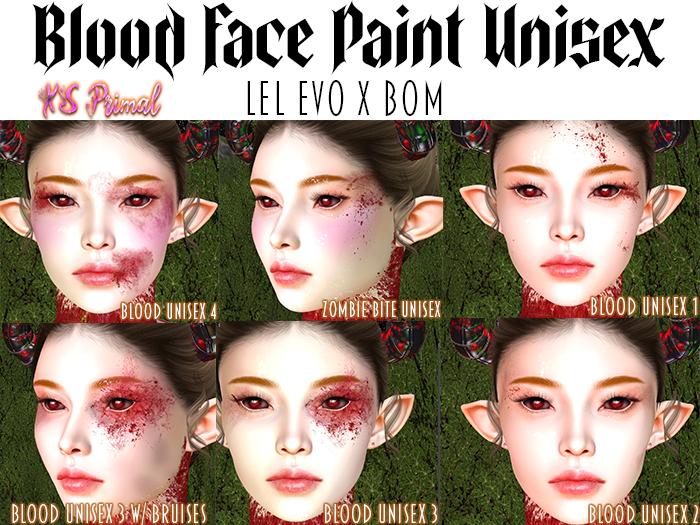XS Primal EvoX Blood Face Paint Unisex