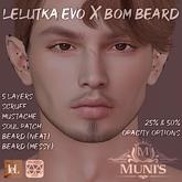 [Muni's] Lelutka Evo X BOM Beard and Scruff