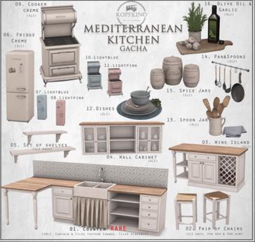 01.KOPFKINO - Mediterranean Kitchen - Counter RARE